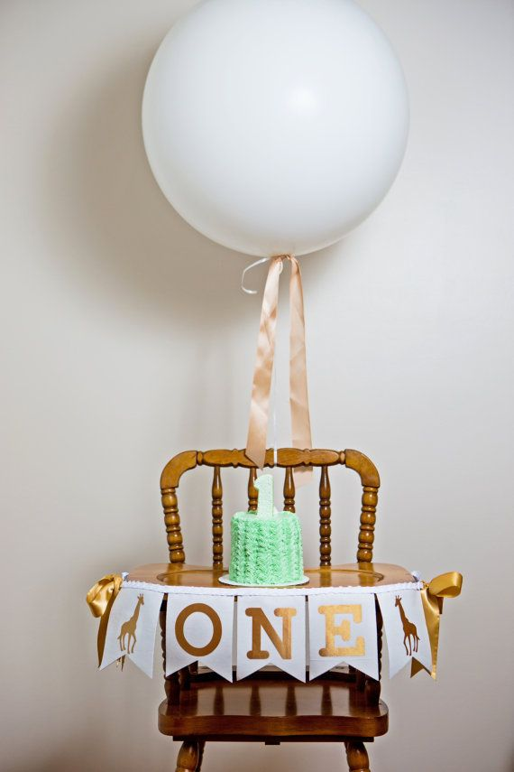 HIGHCHAIR ONE BANNER / First birthday by SweetGeorgiaSweet on Etsy