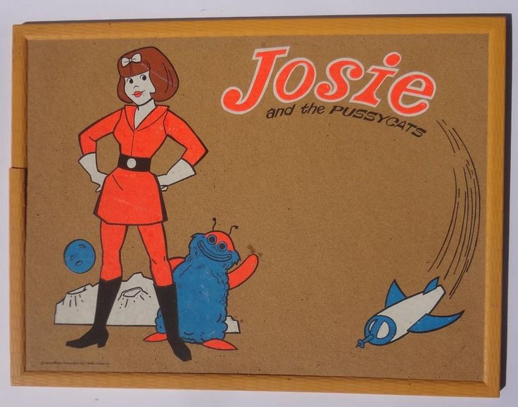 1972 vintage Josie and The Pussycats In Outer Space large Cork Billboard Sign