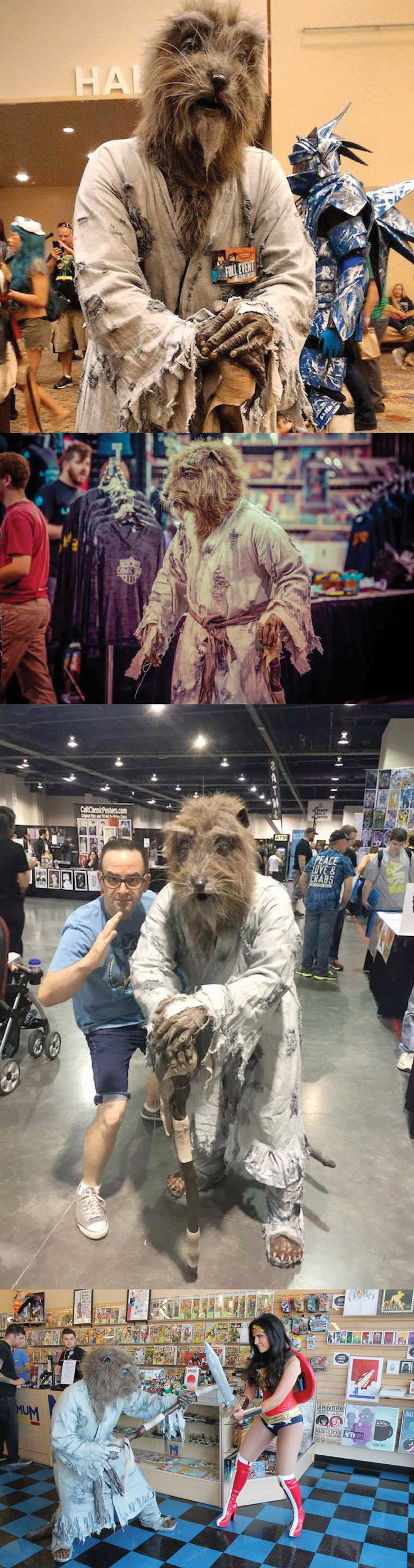 This Master Splinter cosplayer looks like he just walked out of a movie. The character was cosplayed by Baback Moussavi, and I'm impressed with the amount of care and detail that he put into it. via geektyrant.com