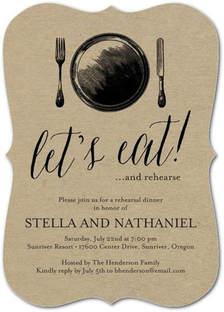 The rehearsal dinner invitations are sometimes an overlooked detail that couples rush to send out. Who gets them? What should they say? Find details and some inspiration for it here.
