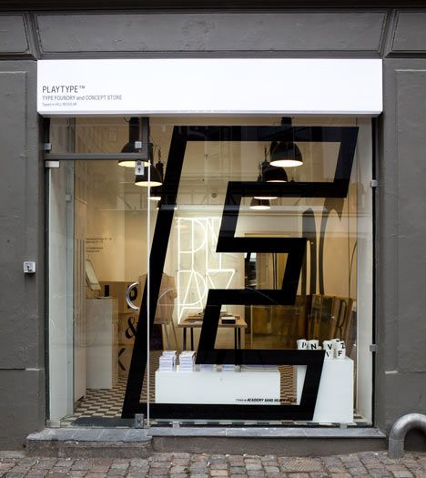 Playtype foundry and concept store by e-Types. Danish typeface designers e-Types have opened a shop for their type foundry in Copenhagen, Denmark, where customers can buy digital fonts in a physical space. Customers can buy fonts loaded on USB sticks at the shop as opposed to the online Playtype store where fonts are downloaded or sent by email. The shop will be open for just one year.