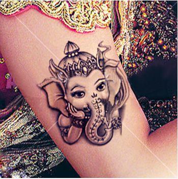Buddhist Totem indian tattoo style