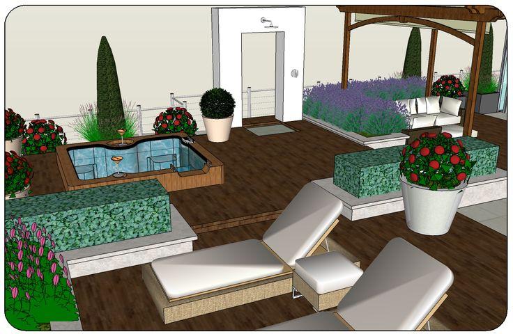 Roof Terrace Garden Landscape Design