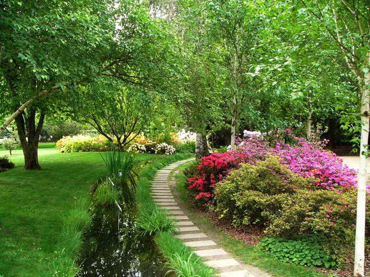 grand jardin avec différents points focaux pour structurer et optimiser l'espace - Ville de Toursl