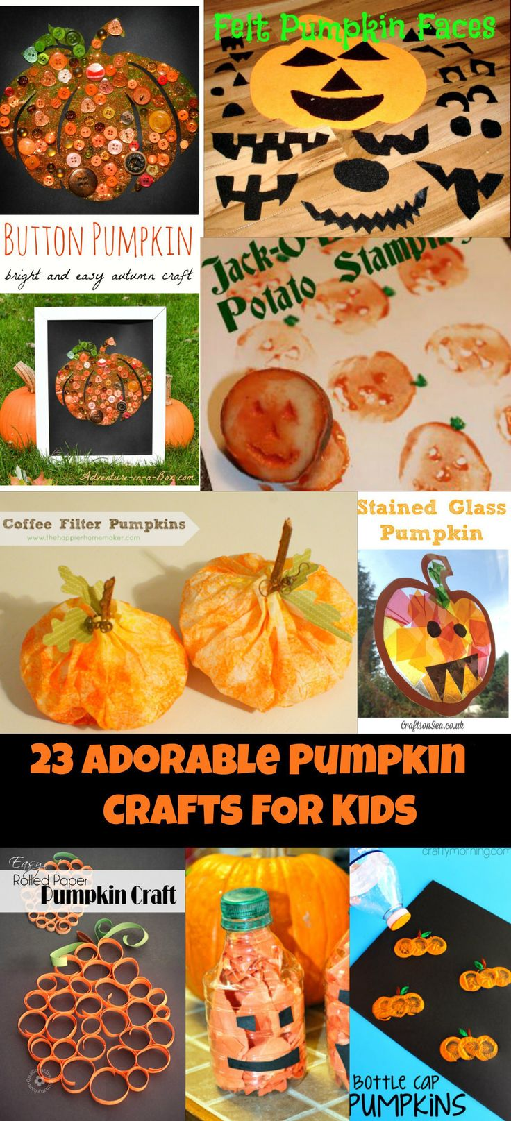 23 Adorable Pumpkin Crafts For Kids The Fall