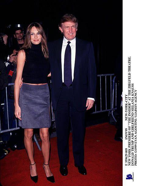 E 359629 009 1Nov99 NewYorkCity New York Premiere Of 'The Insider' At The Ziegfeld Theatre Donald Trump And Girlfriend Melania Knauss
