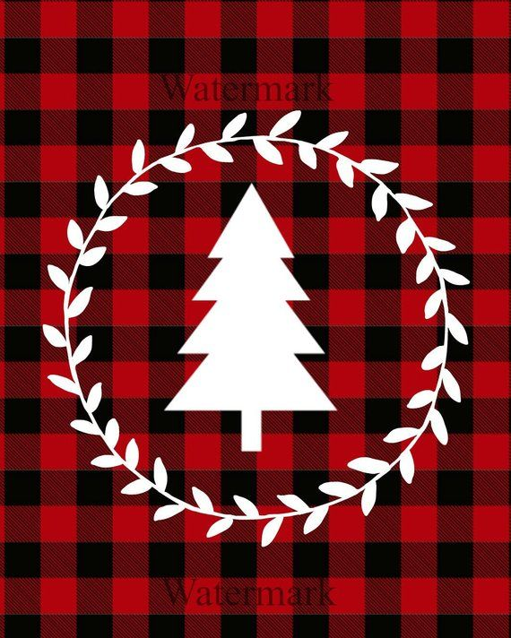 Red Buffalo Plaid Christmas Wallpaper