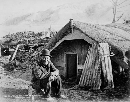 Rewiri at Buried Village after eruption