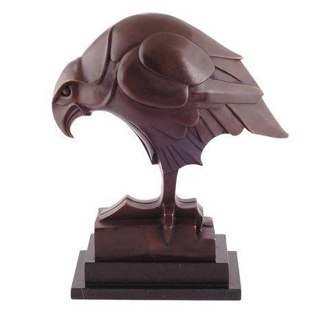Bronzen Sculptuur Hawk