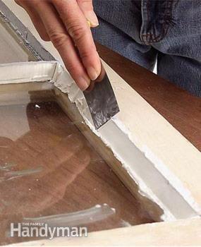Re glazing window pane