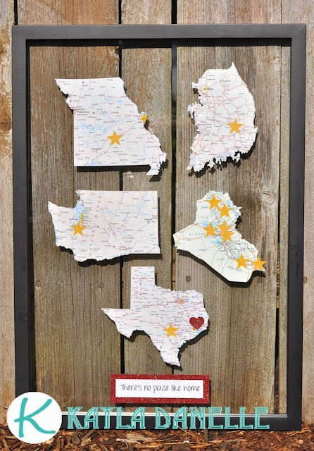 Map Art: Amazing For Military Family's That Move around A lot..