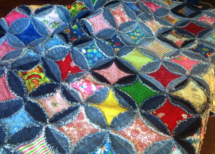 Rag Quilt Denim Patterns Free Linda Quilt Ssc 3 Quilt