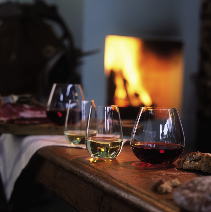 On a chilly night, theres nothing better than sitting in front of a warm fireplace with a glass of wine or two in our Riedel O wine tumblers.