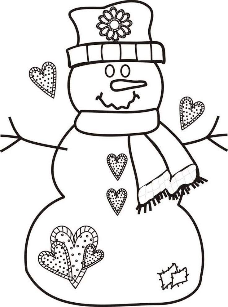 Best 25 coloriage coeur ideas on pinterest mandala - Bonhomme de neige coloriage a imprimer ...