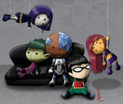 Teen Titans Plushies by Aidivne