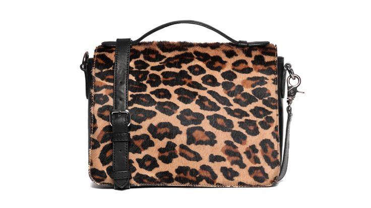 DKNY, leopard print, bag, foal skin, nappa leather