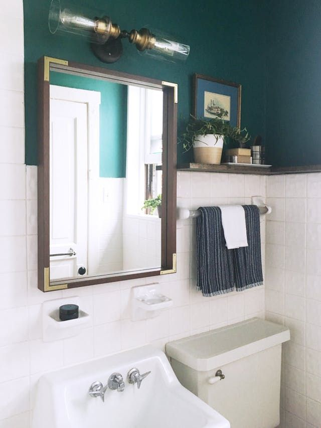 a 100 reversible rental bathroom makeover for under 500