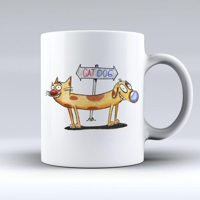 Kedi Köpek Cat Dog Çizgifilm Baskılı Zet.com'da 29.90 TL