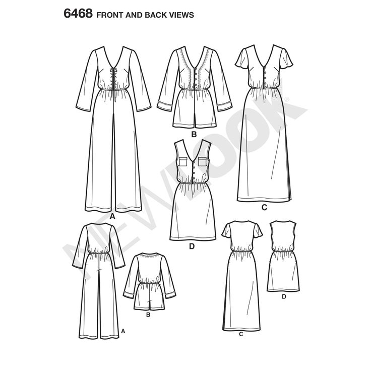 New Look 6468 - Jumpsuit and Dress in Two Lengths