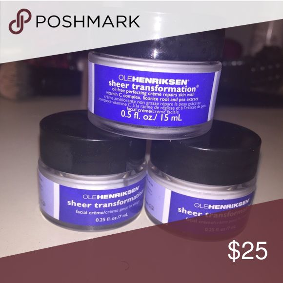Ole Henriksen Sheer Transformation None of these have ever been used or opened. Not interested in trades. Everything in my closet is authentic. Smoke free home. PRICE IS FIRM. Sephora Makeup