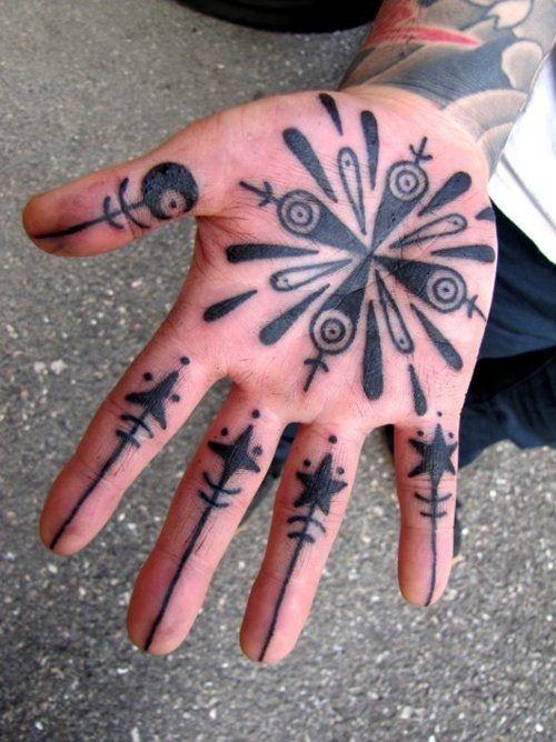 Impressive Palm Tattoos