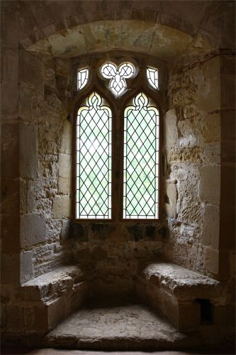 round window alcove...almost medieval but a little softer than this