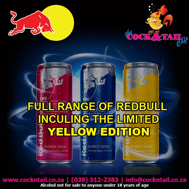 1 of 100 selected restaurants to carry the limited edition of the yellow Redbull #Margate http://bit.ly/1SKj8vm