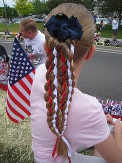 Cute hair style for 4th of July and for kids