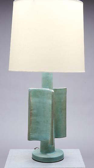 Suzanne Ramie (Madoura) - Magen Gallery; lamp, 1950s, glazed ceramic, SOLD