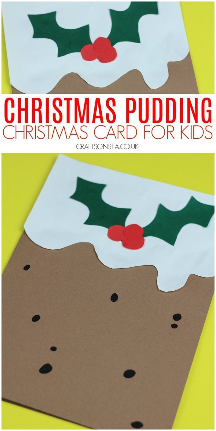 Christmas Cards For Kids Christmas Pudding Christmas Cards Kids Christmas Card Design Fun Christmas Cards