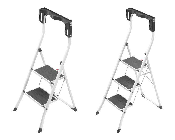 Hailo Safety Plus 2 3 Stufen Stahl Klapptritt Tritt Haushalt Klapp-Leiter NEU | markenbaumarkt24
