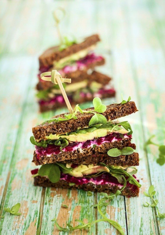 Beet, Goat Cheese, Avocado, and Arugula Sandwich | 14 Next-Level Avocado Sandwiches That Will Change You Forever