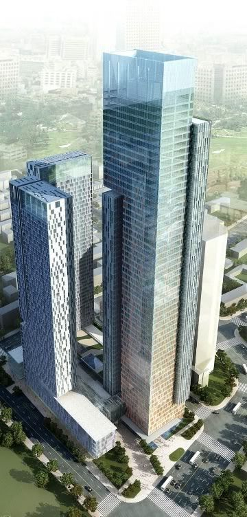 Bank of America Tower, Taifeng Centre, Tianjin, China by RMJM :: 64 floors, height 295m