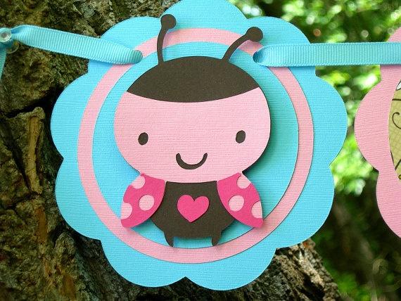 Little Ladybug Paper Birthday Banner
