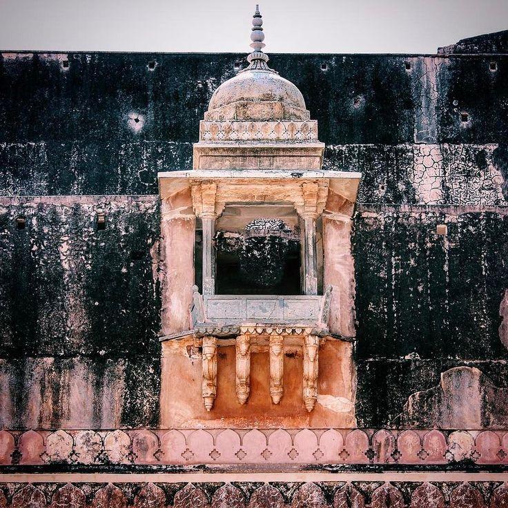 An Old wall at Amer Fort Jaipur