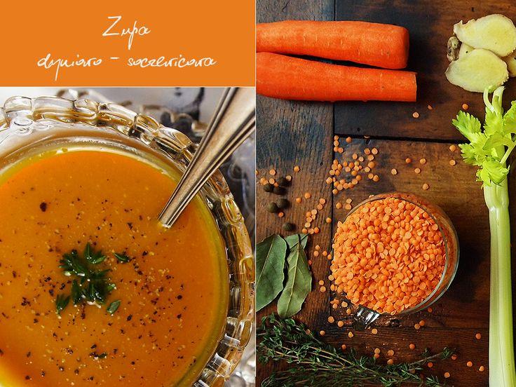 Zupa dyniowo-soczewicowa gotowania wg 5 przemian