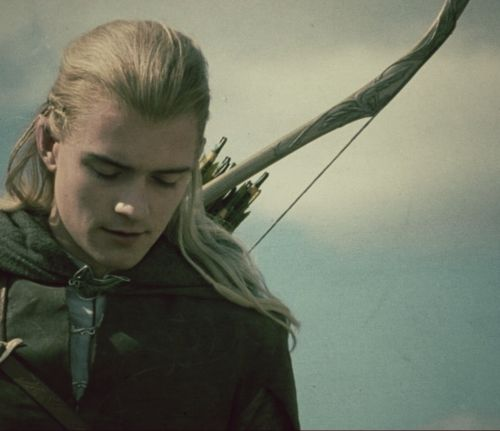 """""""Hiro hyn hîdh ab 'wanath."""" I find it sweet that Legolas says a little elvish prayer for the """"passing"""" of Merry and Pippin. :)"""