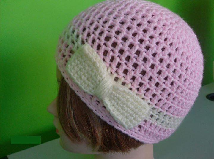 βελονακι σκουαφακι + φιογκος crochet hat with bow