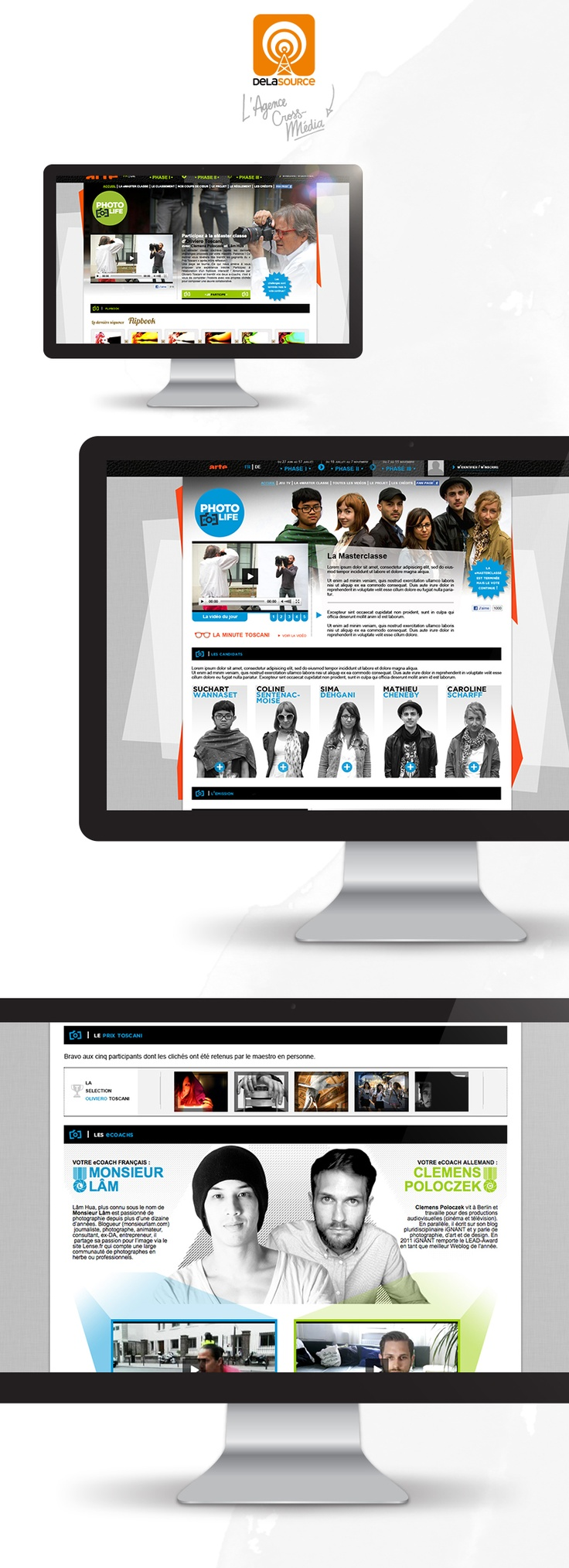 Photo for life website: designed and powered by © Delasource (Arte / BBC Productions France)