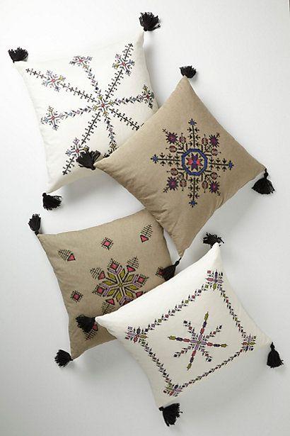 Embroidered Fesi Pillow #anthropologie