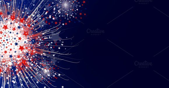 Firework background design Graphics Firework background design of america flag with copy space for USA 4 july independence day by Myimagine