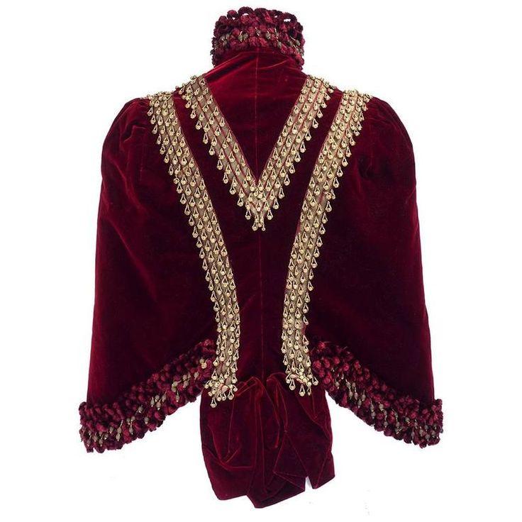 Victorian Burgundy Velvet Carriage Coat
