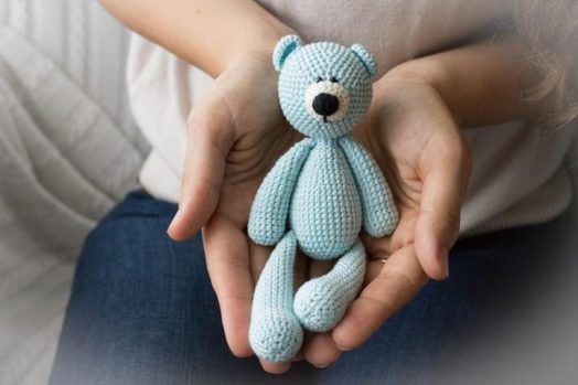 Crochet Art Doll Teddy Bear