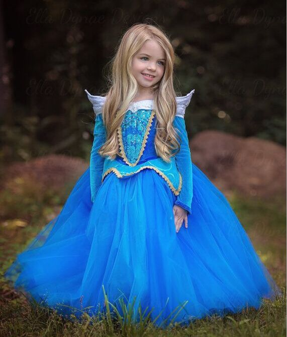 Free Shipping Retail Princess Dress Children Dresses Summer Dress Elsa Dress 2016 Costume Party  Princess Princess Aurora Blue #>=#>=#>=#>=#> Click on the pin to check out discount price, color, size, shipping, etc. Save and like it!
