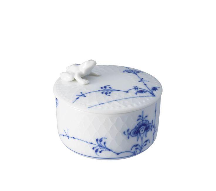 Blå Palmette Skål med låg 7 cm