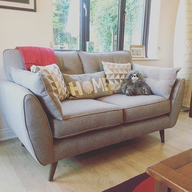I'm obsessed with my new sofas! #mydfs #newsofa #zincsofa