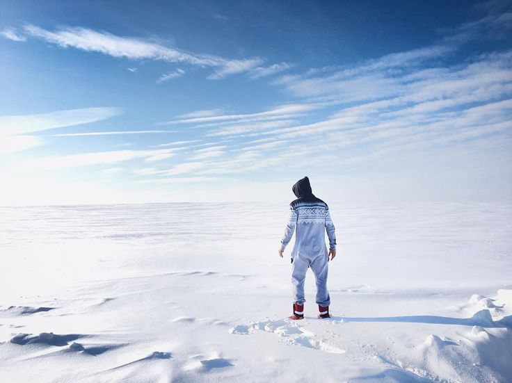 Snow desert in Russia. @mzareuli wearing the Marius Onesie
