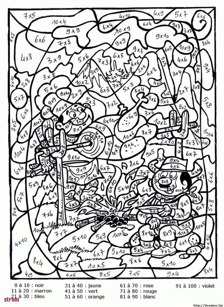 Coloriage Magique Tables De Multiplication Cm2 | Coloriage magique multiplication