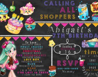 Invitaciones de Shopkins por SweetSecretsShop en Etsy