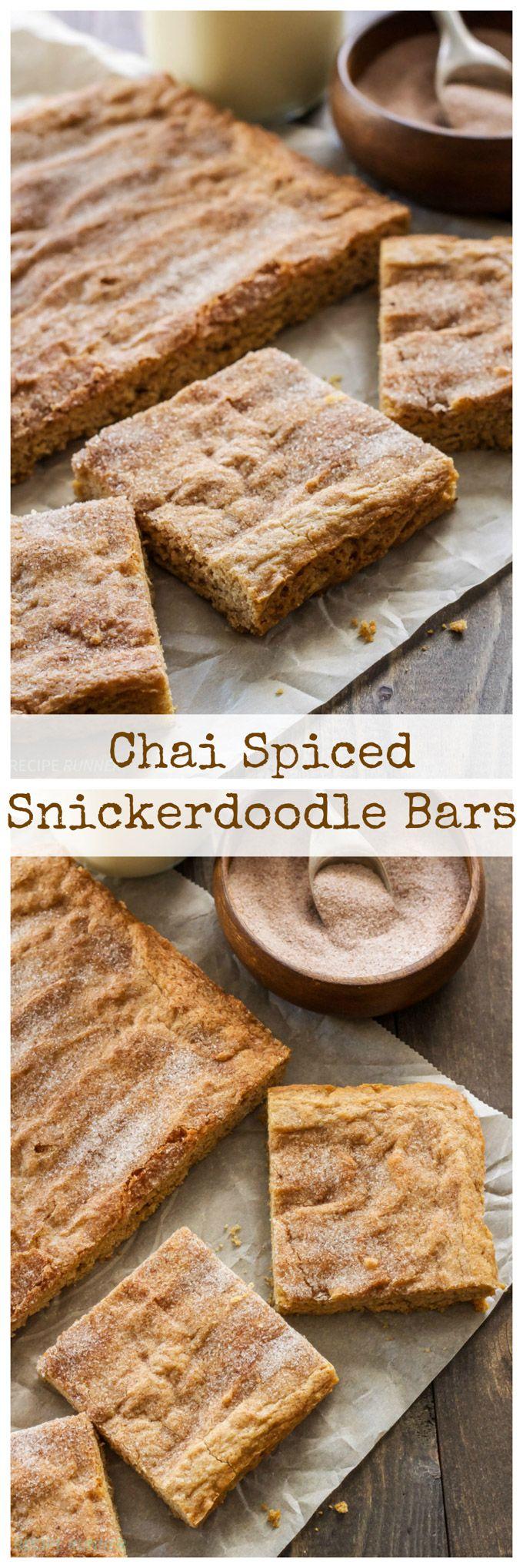Chai Spiced Snickerdoodle Bars | Drehen Sie den Geschmack Ihrer Snickerdoodles …
